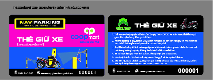 The giu xe NV coopmart