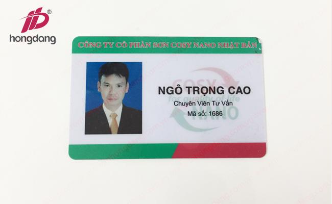 In thẻ nhựa cứng giá rẻ với chất liệu PVC P2
