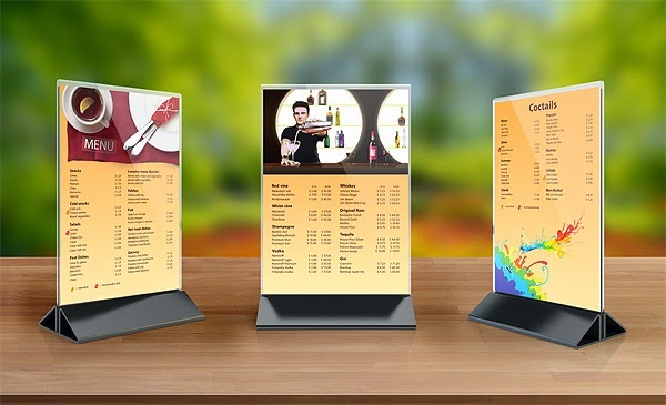 In menu nhựa giá rẻ giải pháp mới gây ấn tượng với khách hàng