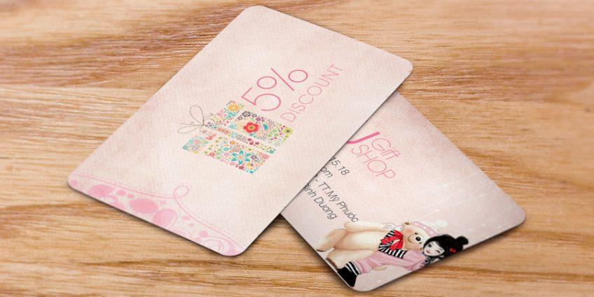 In thẻ khuyến mãi giá rẻ hấp dẫn thu hút khách hàng