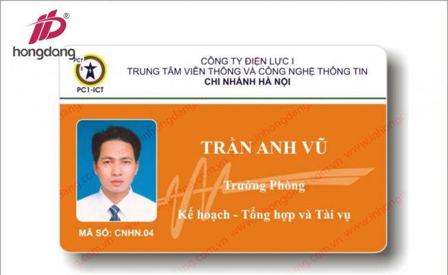 In thẻ nhựa – Thẻ Nhân Viên giá rẻ tại Hà Nội