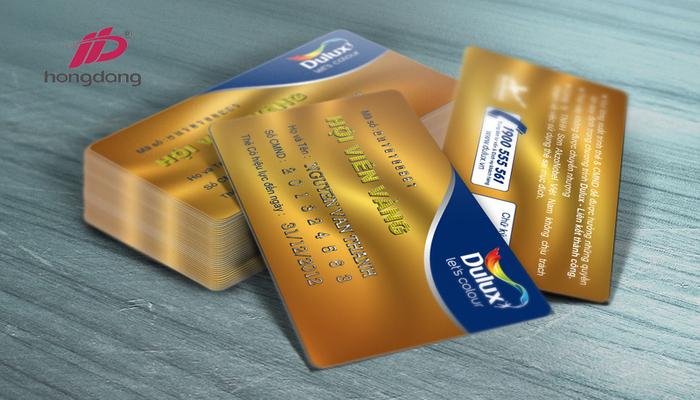 PVC 4 lớp thường được dùng làm thẻ VIP, thẻ ngân hàng,.